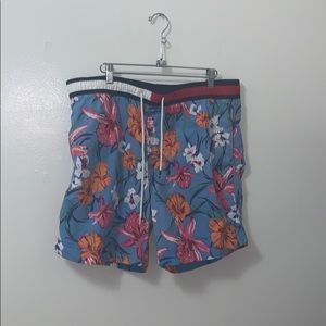 Tommy Hilfiger Floral Flag Swim Trunks